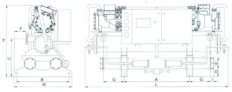 首页 产品中心  cm1-2 压缩机 2 cd1-2 冷凝器 2 ch 蒸发器 1 ex1-2图片
